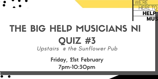 The Big Help Musicians Quiz #3
