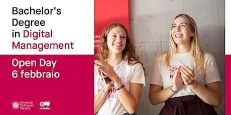 Laurea Triennale in Digital Management - Open Day tickets