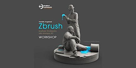 Workshop a Roma: Daniele Angelozzi - Zbrush: scultura finalizzata alla stampa 3D biglietti