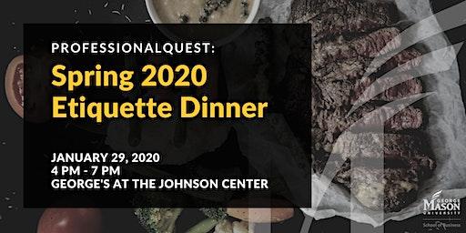 ProfessionalQuest: Spring 2020 Etiquette Dinner