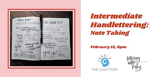 Intermediate Handlettering: Note Taking
