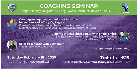 BallyroanAbbey Coaching Seminar tickets