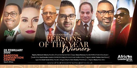 ALM Persons Of the Year Awards - Johannesburg 2020 tickets