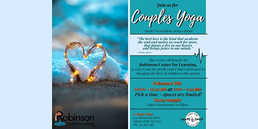 COUPLES YOGA! ...Single?...Bring a friend! :-)