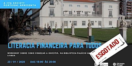 Literacia Financeira para Todos bilhetes