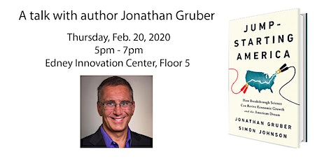 Jump-starting America: A book talk with Jonathan Gruber tickets