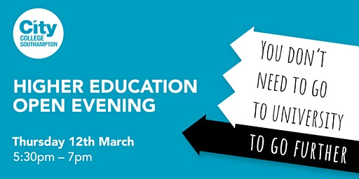 City College Southampton Higher Education Open Event - 12th March