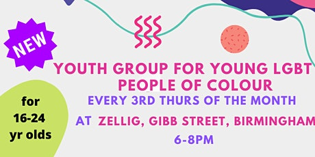 YOUTH GROUP FOR LGBTQI PEOPLE OF COLOUR tickets