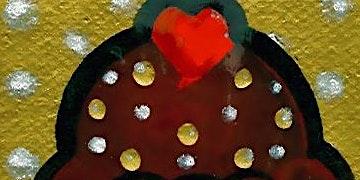 Valentines chocolate cupcake painting