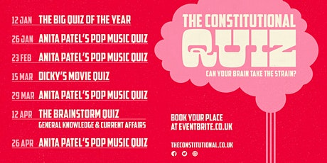 The Constitutional Pop Quiz / FIlm /General Knowledge Quiz tickets
