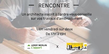 Un architecte inscrit à l'ordre vous conseille dans vos travaux billets