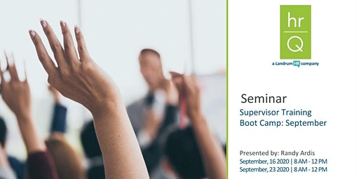 Supervisory Training Boot Camp (Quarter 3)