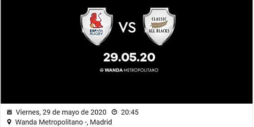 RUGBY: ESPAÑA VS CLASSIC ALL BLACKS