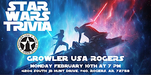 Star Wars Trivia at Growler USA Rogers