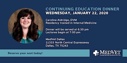Dinner and CE with Dr. Caroline Aldridge