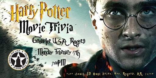 Harry Potter Movies Trivia at Growler USA Rogers