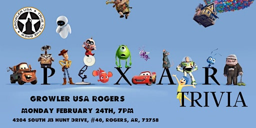 Disney Pixar Trivia at Growler USA Rogers