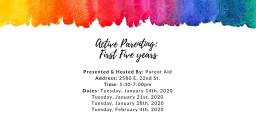 First 5 Years - Active Parenting Series