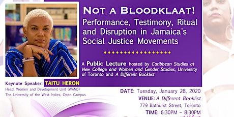 Not a Bloodklaat: A Public Lecture by Taitu Heron tickets