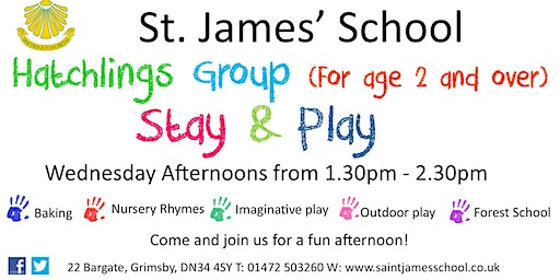 Hatchlings Stay & Play Group (For over 2's)