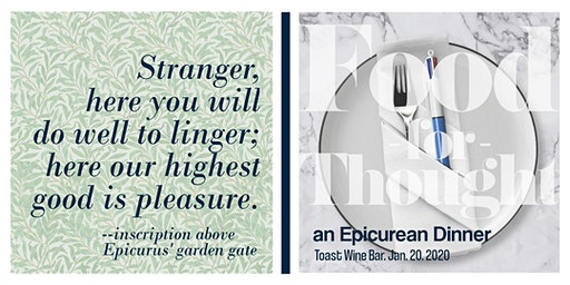 Food for Thought - an Epicurean dinner
