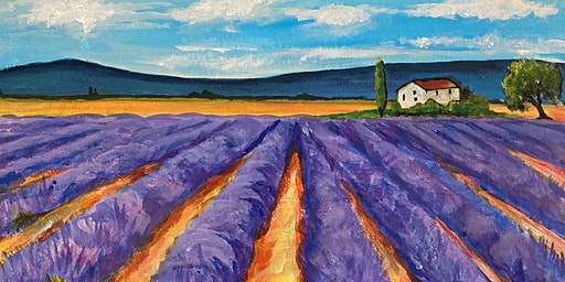 Paint Party Event 'Lavender Fields' The Oliver Cromwell, St.Ives