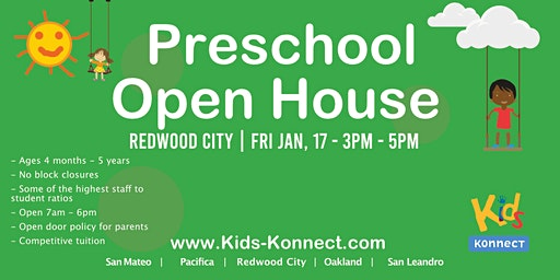 Preschool & Infant Center Open House, Redwood City