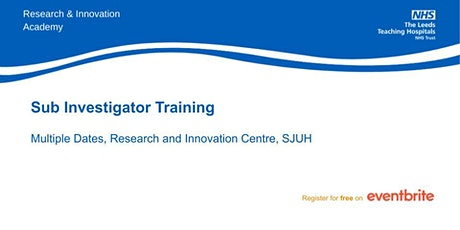 Sub Investigator Training tickets