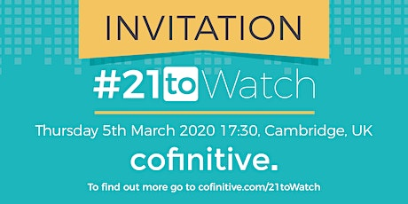 cofinitive's #21toWatch Top21 Announcement Event tickets