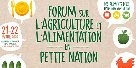 Forum sur l'agriculture et l'alimentation en Petite Nation billets