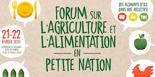 Forum sur l'agriculture et l'alimentation en Petite Nation