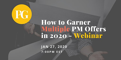 How to Garner Multiple Product Manager Offers in 2020 - Webinar