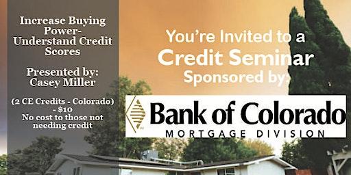 Credit Seminar - Bank of Colorado 2.20.2020