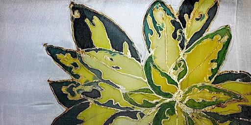 Silk Painting for beginners: Winter Garden