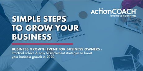 Simple `Steps to Grow Your Business tickets