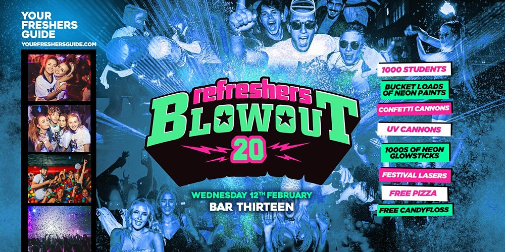 The Refreshers Blowout Surrey Guildford Tickets Wed 12