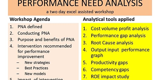 PERFORMANCE NEED ANALYSIS : Identifying business performance opportunities.