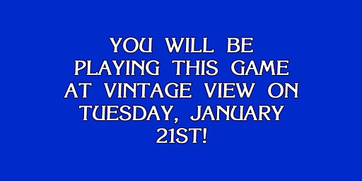 Vintage View Jeopardy!
