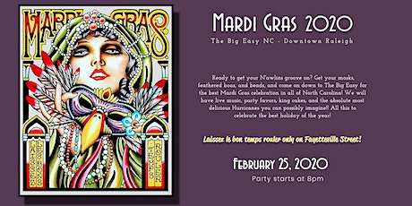 Mardi Gras 2020 Party at The Big Easy NC, Downtown Raleigh tickets