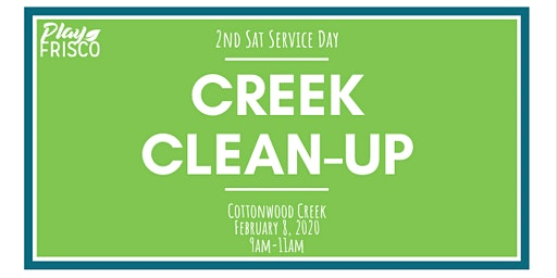 2nd Sat Service Day: Creek Clean-Up