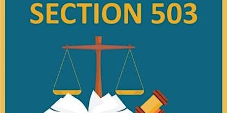 Understand Federal 503 Regulations tickets