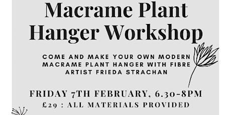 Make a Modern Macrame Plant Hanger w/ Frieda Strachan tickets
