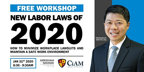 New Labor Laws of 2020: How to Minimize Workplace Lawsuits tickets