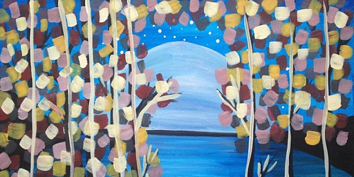 "Paint and Sip Event ""Moonlit Branches"""