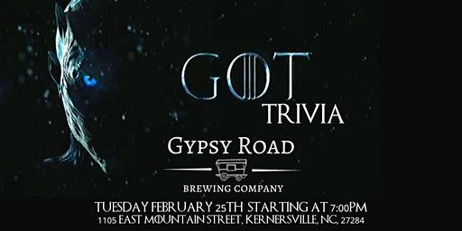 Game of Thrones Trivia at Gypsy Road Brewing Company