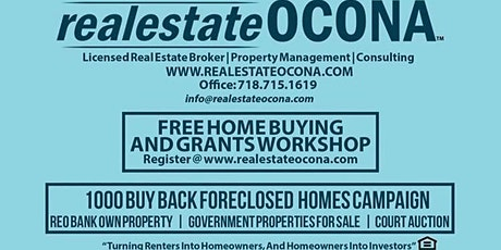 FREE VIRTUAL RealestateOCONA Home Buying and Grant's Workshop tickets