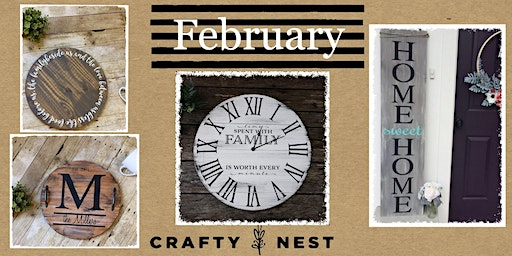 February 11th at The Crafty Nest DIY- Whitinsville