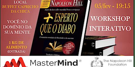 Workshop MasterMind de Napoleon Hill + Esperto Que o Diabo em São Carlos ingressos