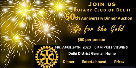 Go for the Gold! 50th Anniversary Dinner Fundraiser and Auction tickets