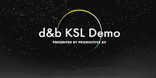 d&b Audiotechnik KSL Demo. Presented by Productive AV